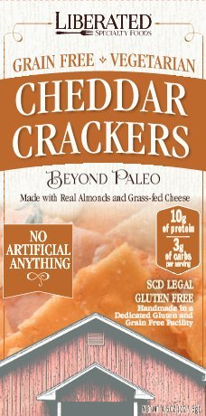 Low Carb Cheddar Crackers  by Liberated