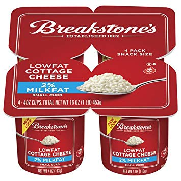 Cottage Cheese 2% Small Curd 4 counts Snack Size Pack of 3 by BREAKSTONE at The Neighborhood Corner Store
