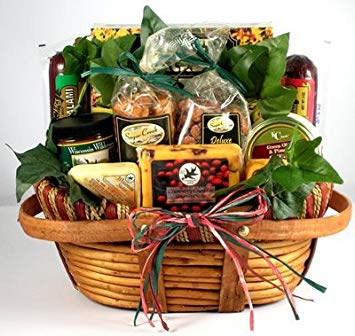 Organic Stores' The Midwest's Best Deluxe Sausage and Cheese Gift Basket for Men