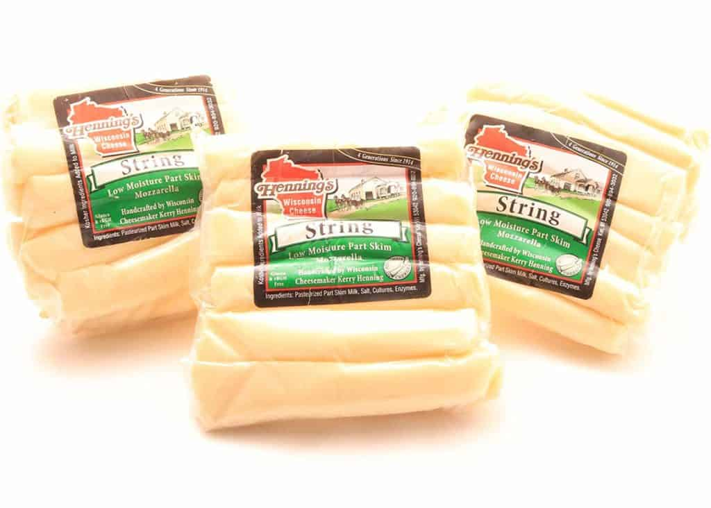 Henning's String Cheese Sticks by Wisconsin Cheese Mart