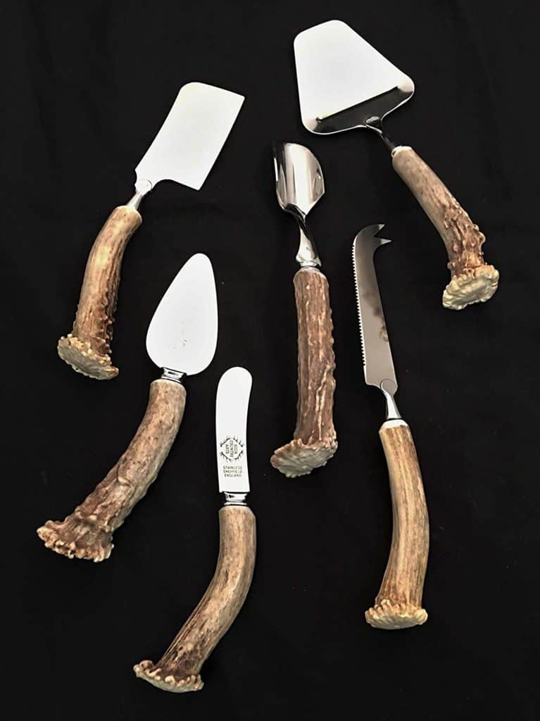 6 Piece Antler Handled Cheese Serving Set by High Country Arts