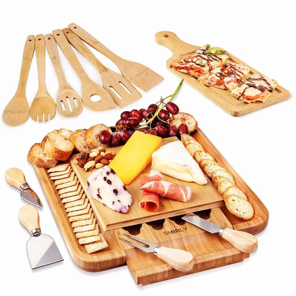Charcuterie Cheese Board & Knives Set by Smirly